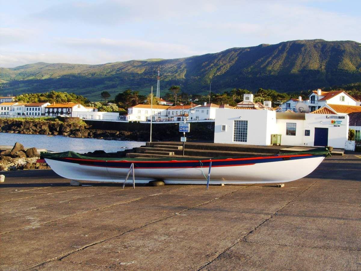 Pico, un paysage marqué par la viticulture et l'industrie baleinière (wikipédia)