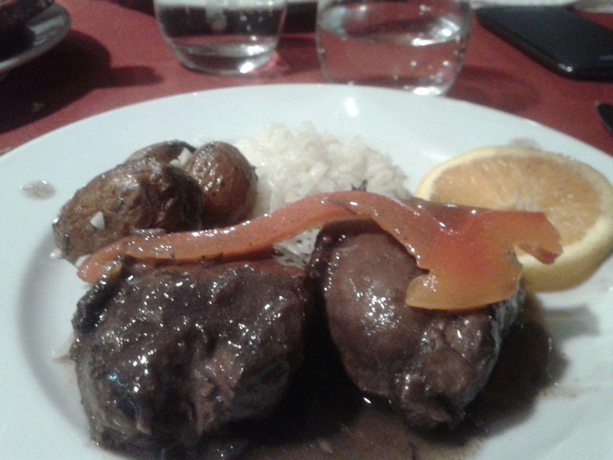 Joues de porc ibérique, Restaurant Abadia