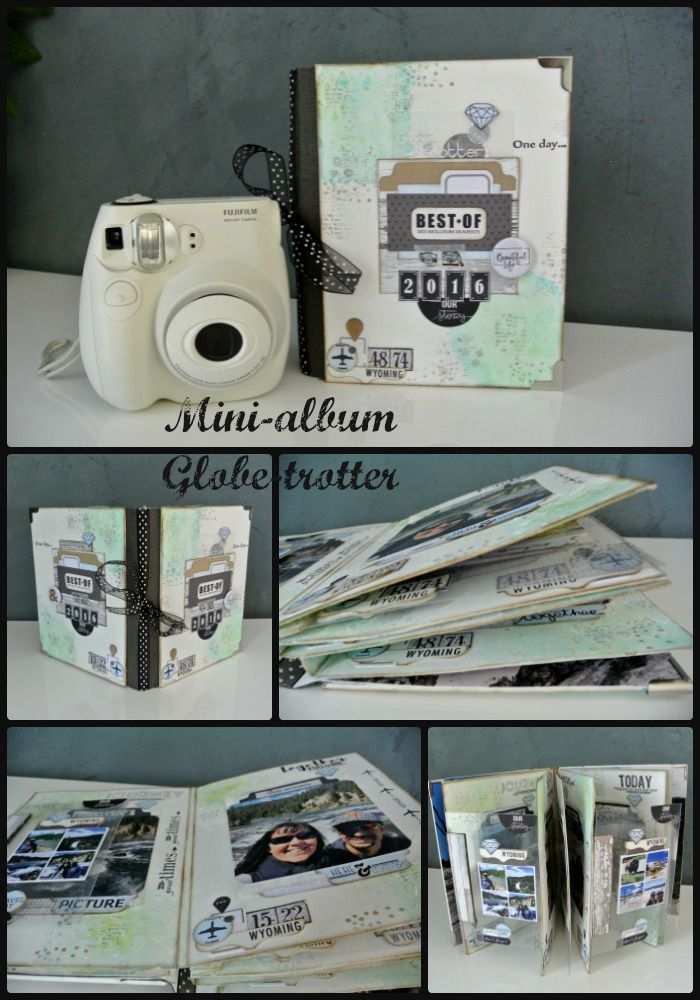 Kit atelier mini-album Globe trotter