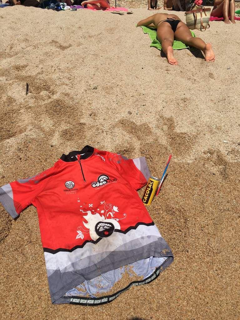 Le maillot de la JSO VTT en vacances