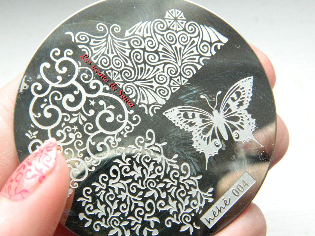 Plaque stamping Héhé 004