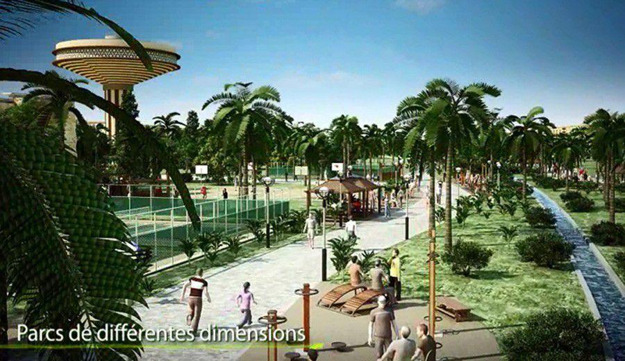 Projet de la nouvelle ville de Hassi-Messaoud: la bande verte