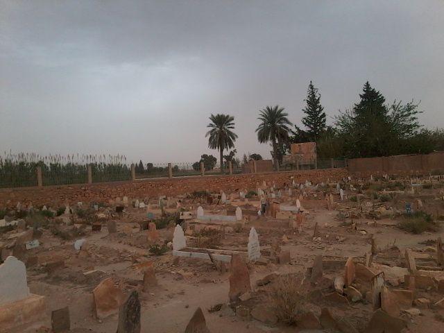 مقبرة قصر البزايم بعد صلاة عصر نهار أمس