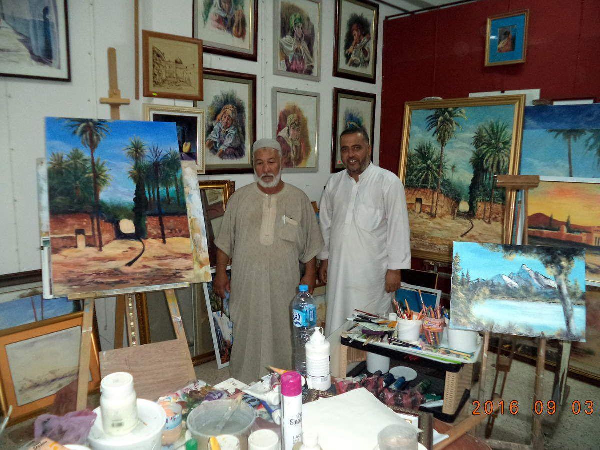 Riche rencontre avec notre ami l'artiste-peintre Laid SIGA