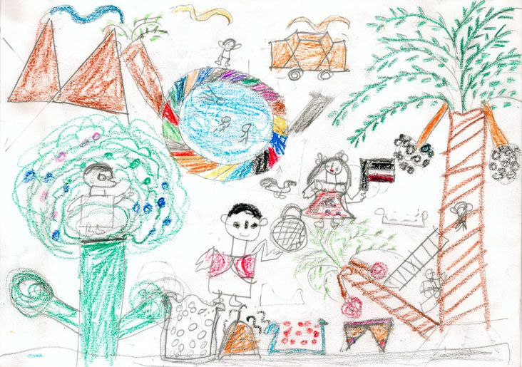 Dessins d'enfants .