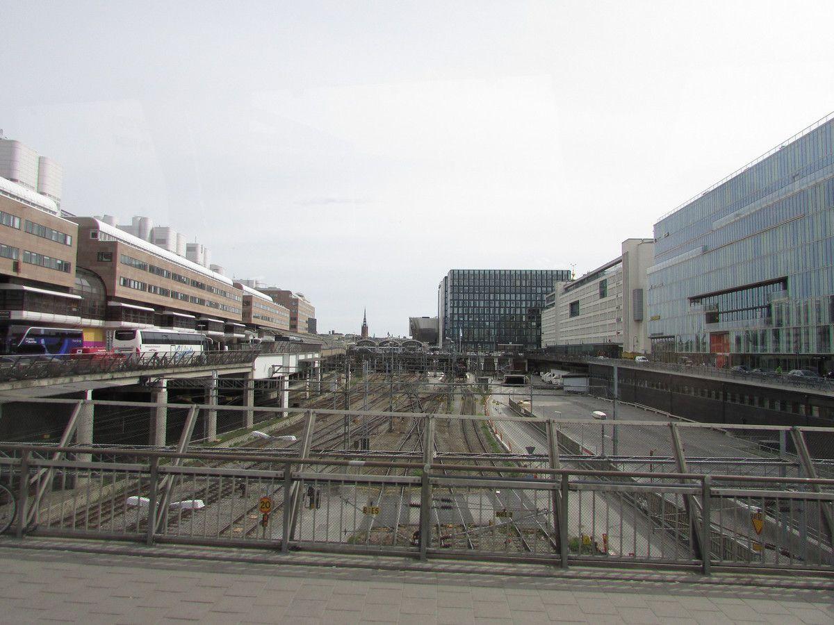 La gare centrale des bus et trains de Stockholm