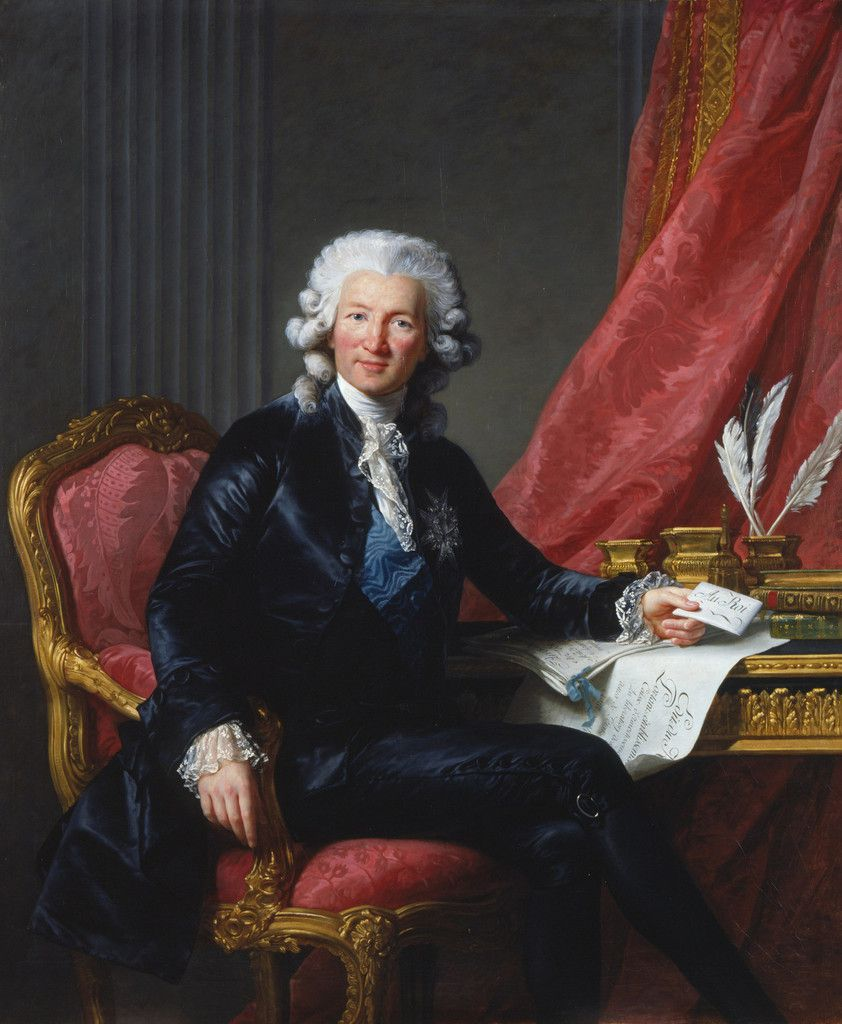 Portrait de Charles-Alexandre de Calonne, signé, daté 1784 (Royal Collection Trust/ her Majesty Queen Elizabeth II)