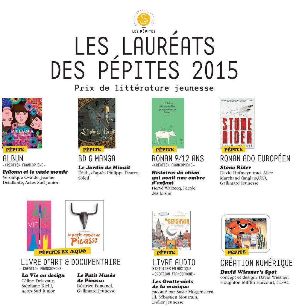 Les lauréats des pépites du Salon du livre jeunesse 2015