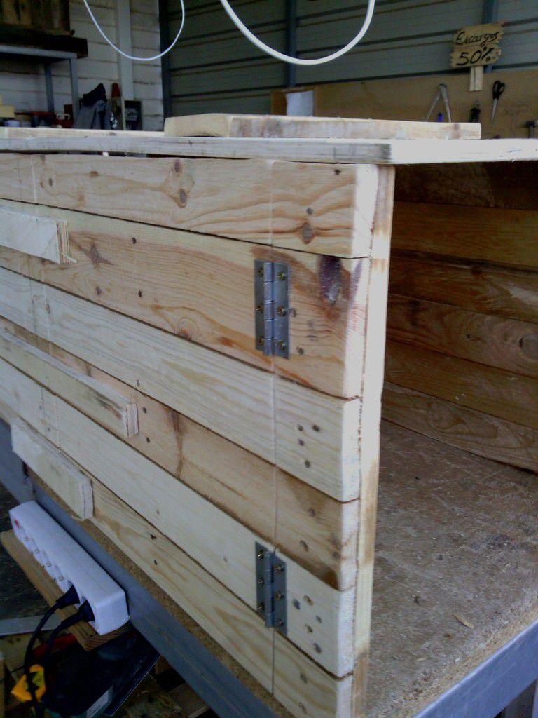 Baul zapatero palets madera reciclado - Baul zapatero ...