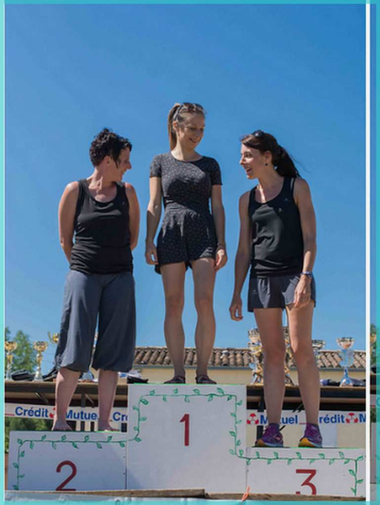 Un beau podium briouxais avec Laurine, Coralie et Céline.