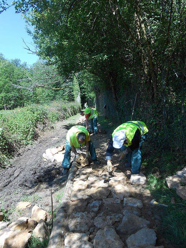 Les travaux d'améliorations du sentier de Rochecardon se poursuivent