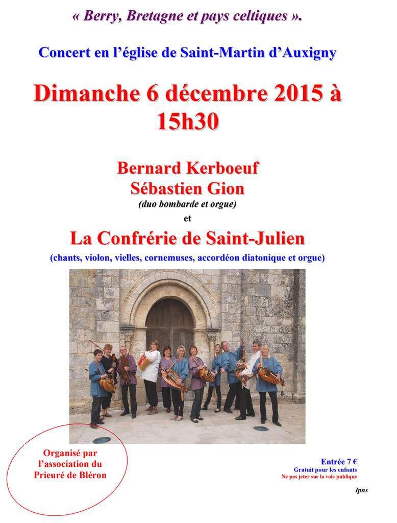 Concert : Berry, Bretagne et pays celtiques.