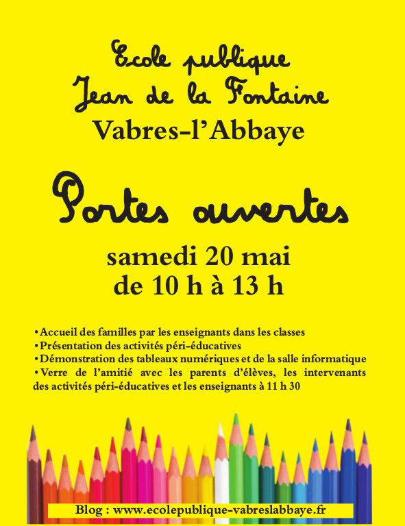 Journée Portes Ouvertes à l'Ecole Jean de la Fontaine !