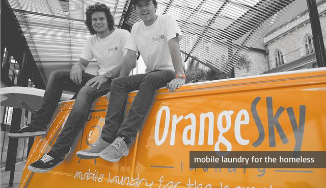 Mobile laundry for the homeless