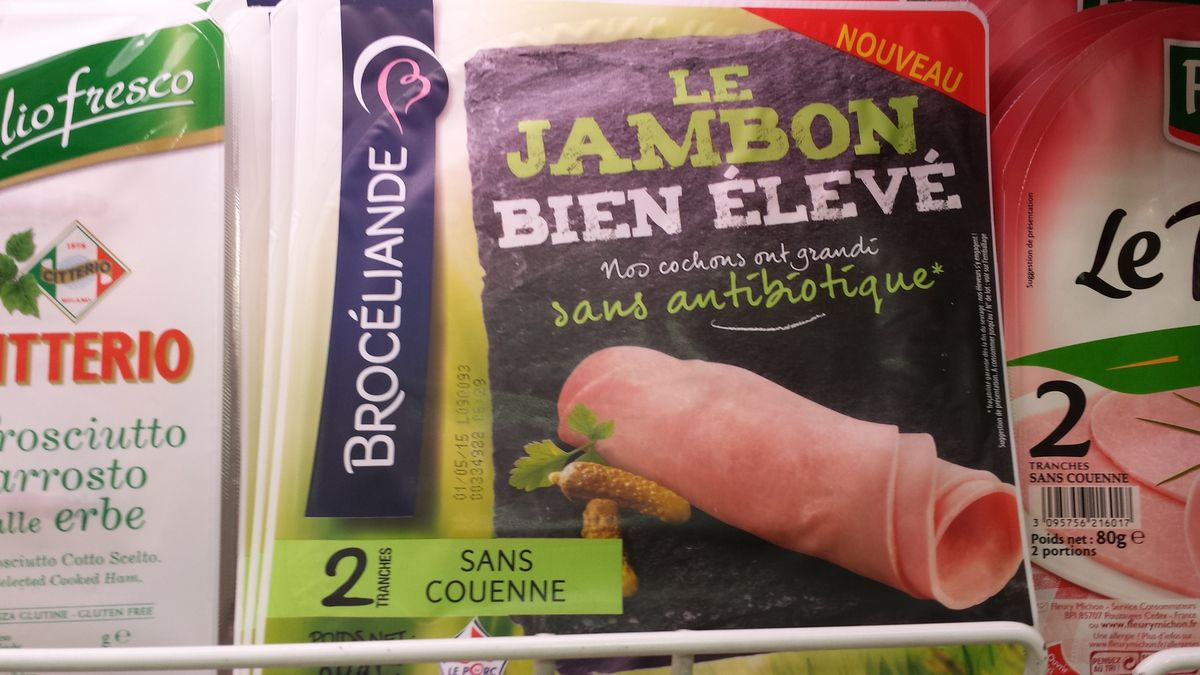 Le packaging du jambon bien élevé de Brocéliande