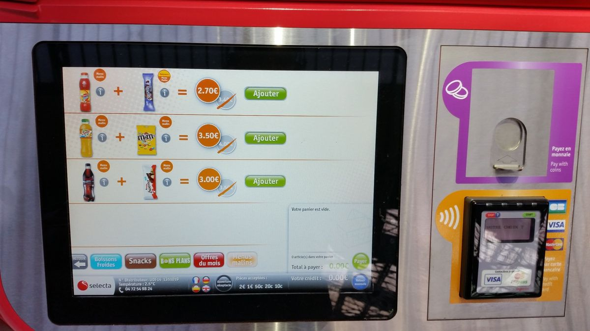 Vending machine 3.0 en gare
