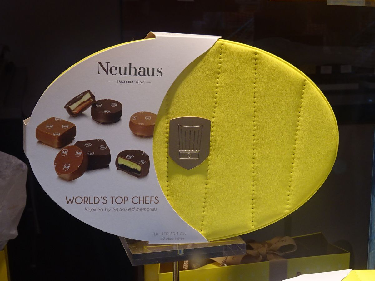 Neuhaus lance une collection de chocolats conçus par des grands chefs internationaux