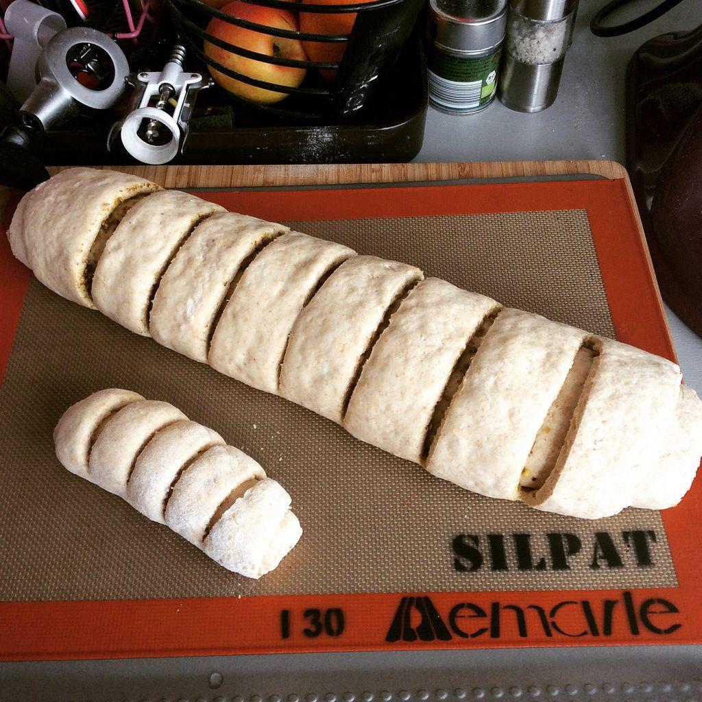 Le pain roulé à la pistache