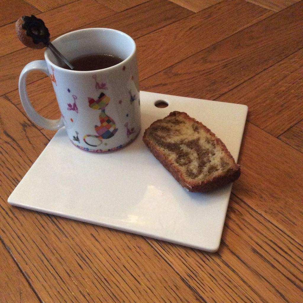 Mon cake marbré vanille thé matcha