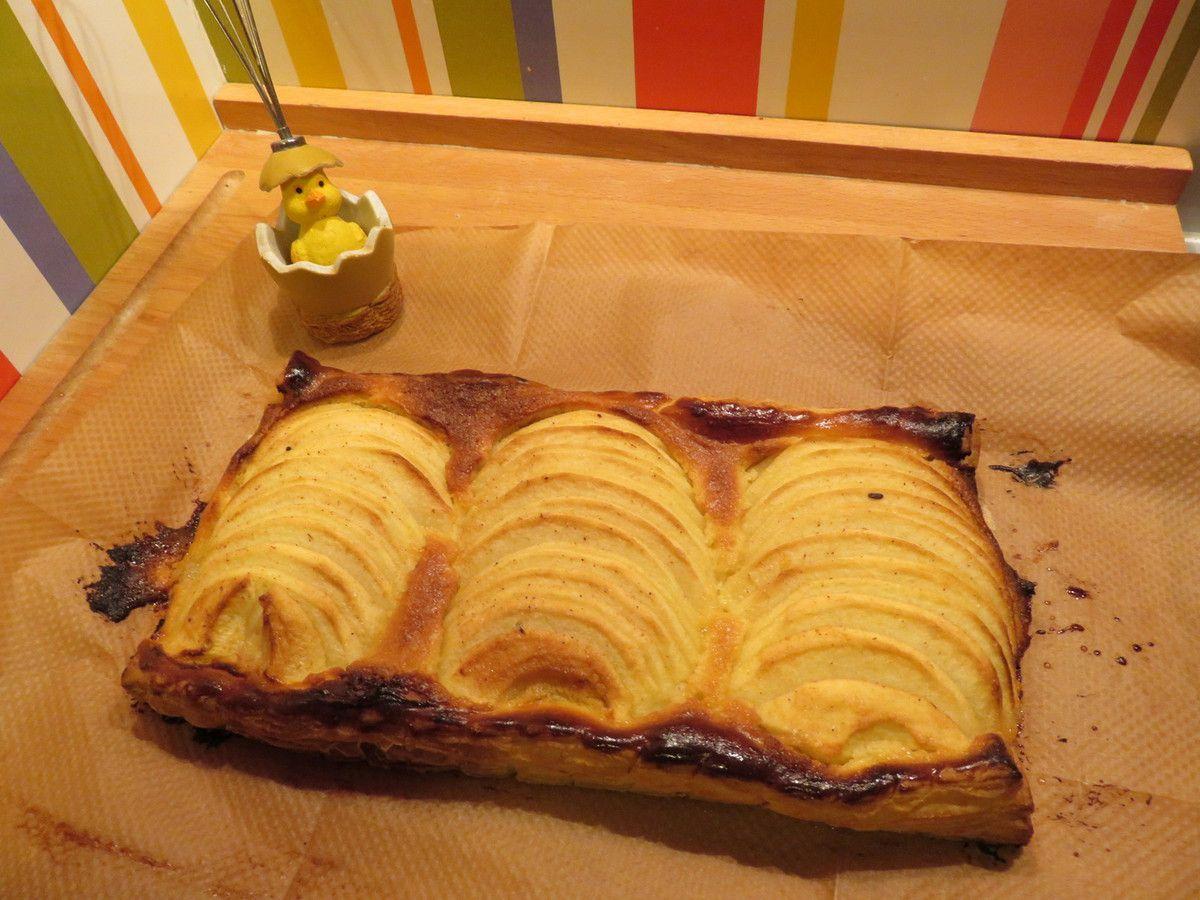 Ma tarte en bande aux pommes