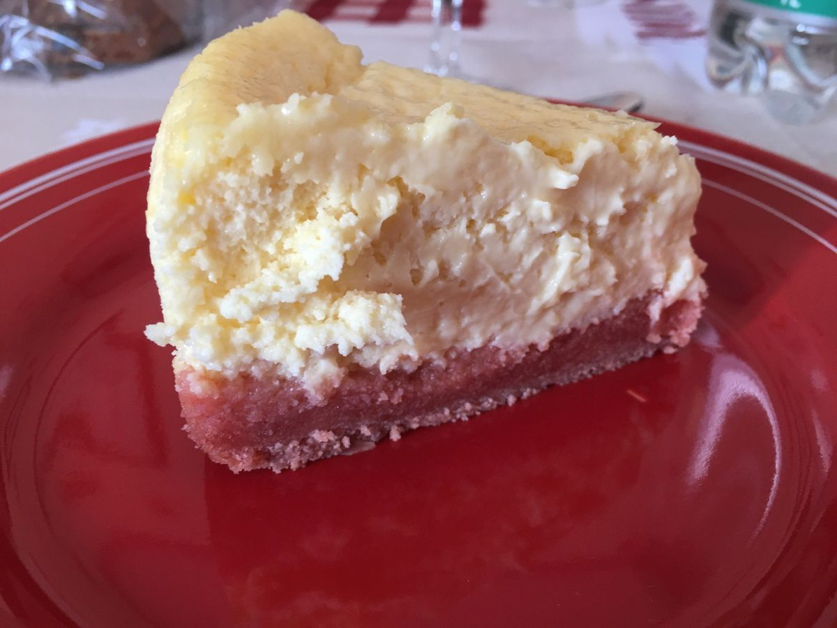 Mon cheesecake aux biscuits roses de reims
