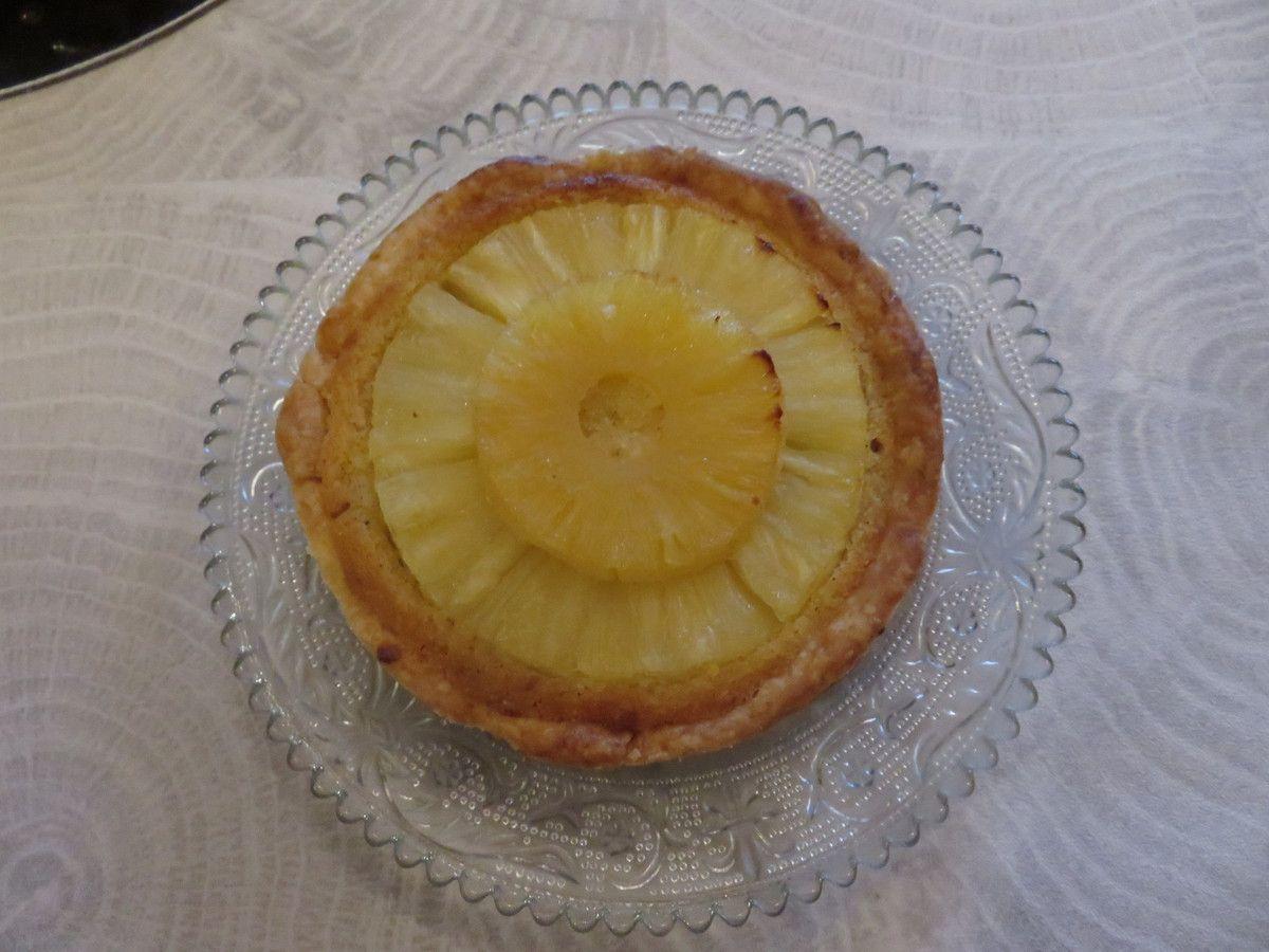 Mes tartes bourdaloue ananas rhum raisin