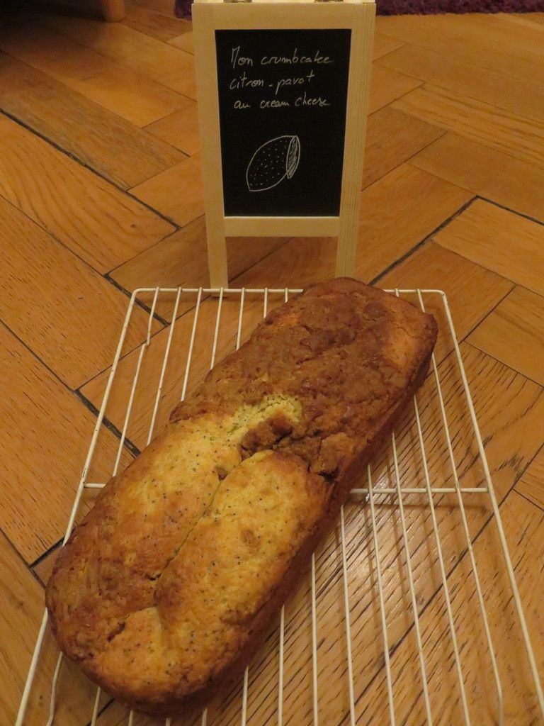 Mon crumbcake citron-pavot au cream cheese