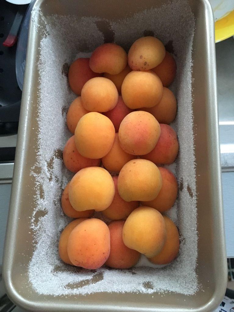 Mon gâteau aux abricots et basilic de mon balcon