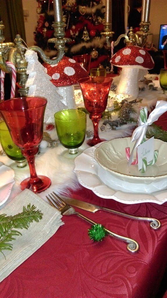 table Noël, rouge vert