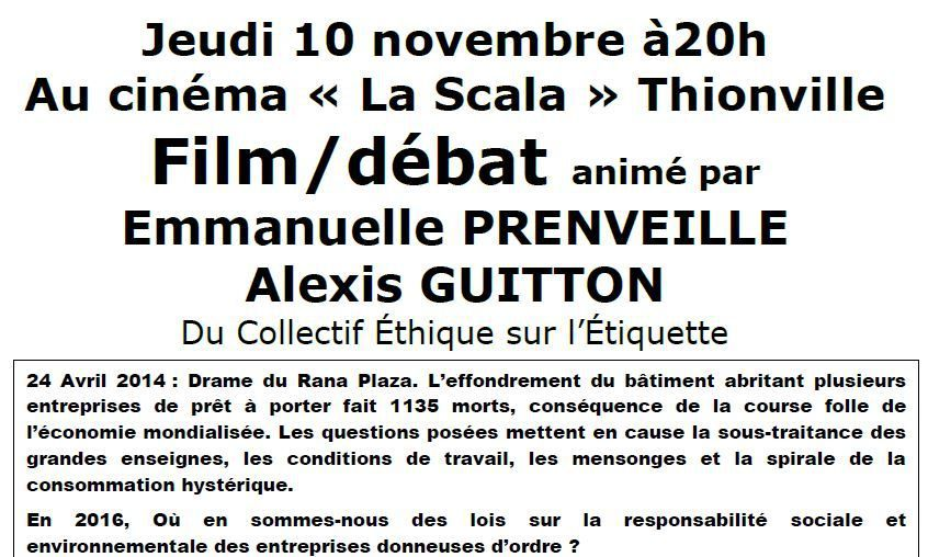 Semaine de Solidarité Internationale à Thionville. Film