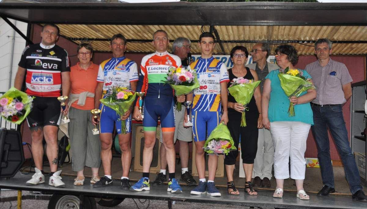 Podium du critérium 2015