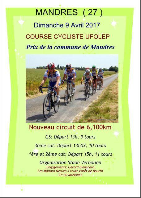 Course UFOLEP à Mandres le 9 avril
