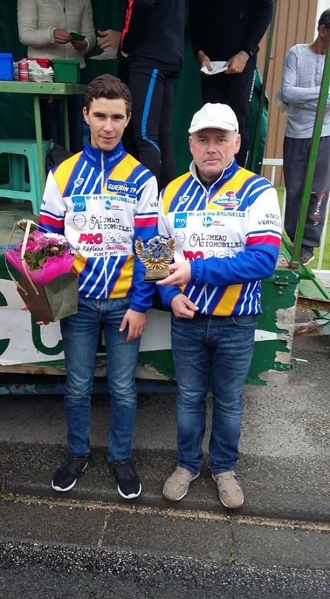Benjamin Rétif vainqueur en 3ème catégorie à Bourgtheroulde et Olivier Damagnez,5ème en GS