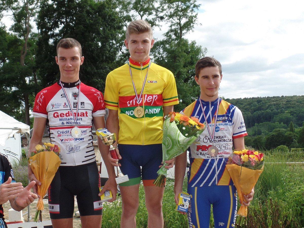 Le podium des 17/19 ans avec Benjamin Rétif 3ème.