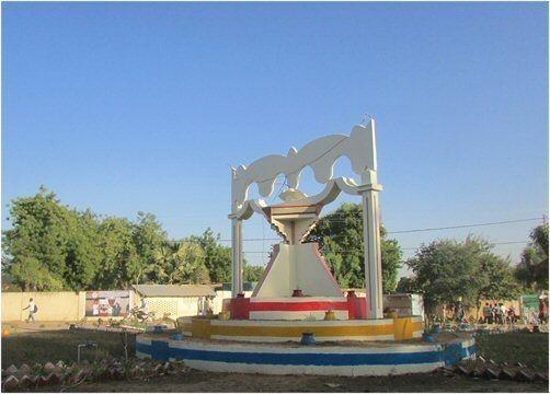 Le rond point de Bongor rénové à l'entrée de la ville