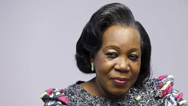 La présidente de transition Catherine Samba-Panza