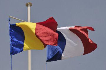 Drapeaux Tchad - France