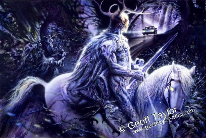 L'une des nombreuses apparitions du Roi des Elfes, ou le Fou, ou Amadàn-na-Briona...