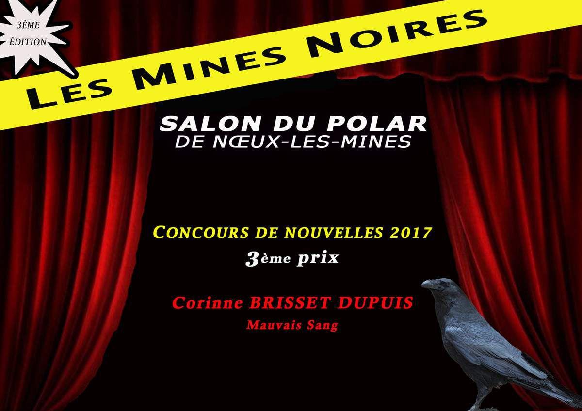 &quot&#x3B; Mauvais Sang &quot&#x3B; de Corinne BRISSET DUPUIS - 3ème prix concours de nouvelles LES MINES NOIRES 2017