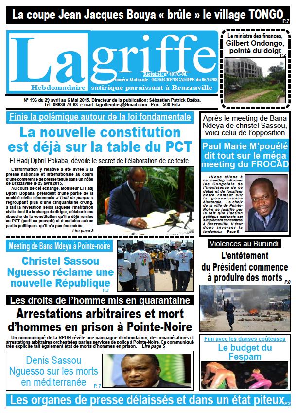 Journal La Griffe N° 196