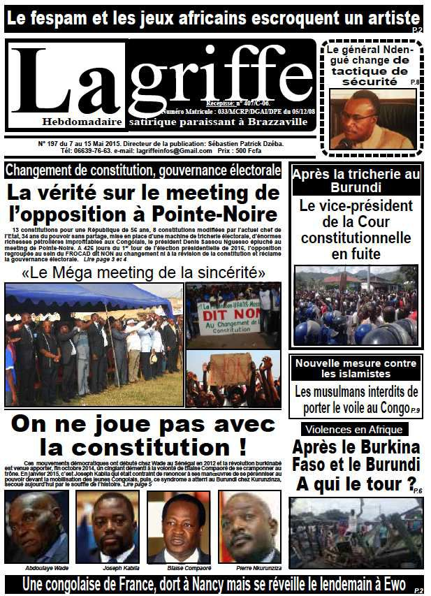 Le Journal La Griffe N° 197