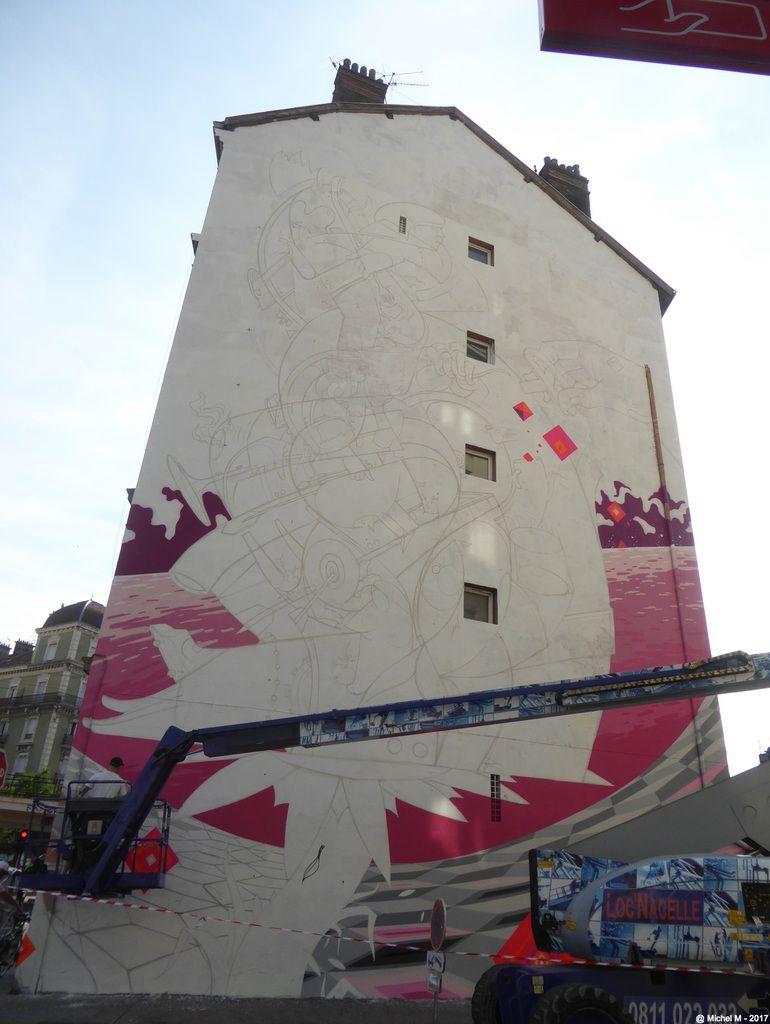 Grenoble Street Art Festival 2017, peinture fraiche..