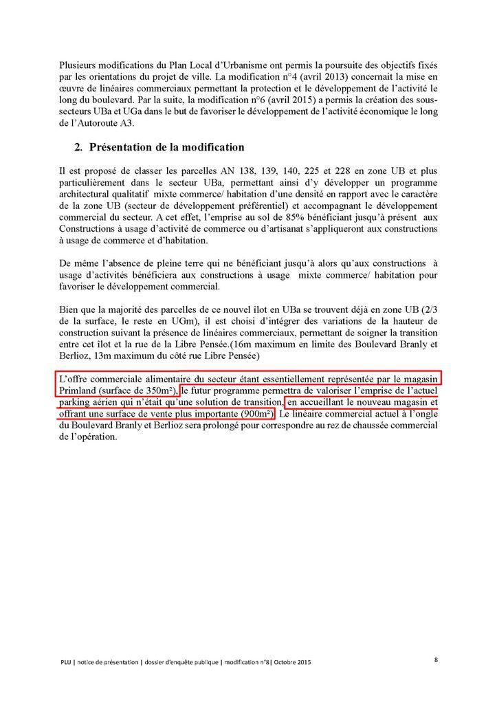 La Libre Prensée en chantier, une conséquence du PLU 8