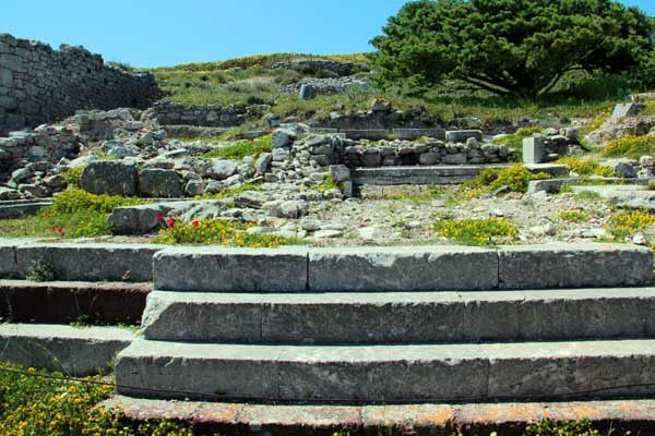 L'Ancienne Théra à Santorin. Mercredi 9 avril 2014