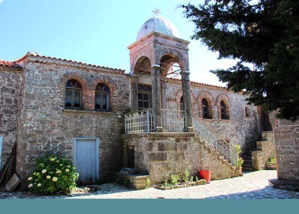Lesbos 06 : Le monastère d'Ypsilou. Jeudi 12 juin 2014