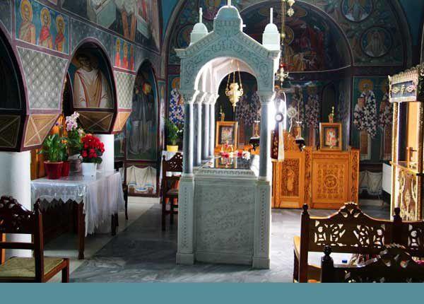 Lesbos 05 : Le monastère Agios Rafaïl à Thermi. Du 6 au 8 juin 2014