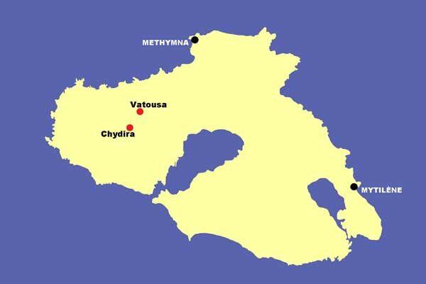 Lesbos 20 : Chydira et Vatousa. Les 12 et 13 juin 2014