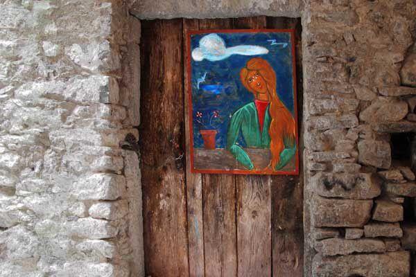 Mesta, dans l'île de Chios. Juillet 2014