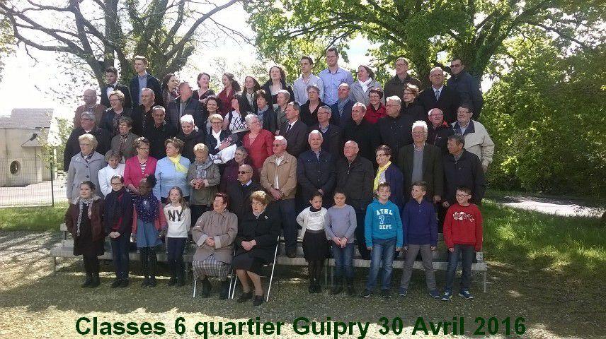 LA PHOTO DES CLASSES 6 - 2016 Quartier Guipry