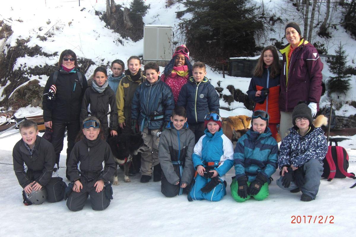 Ecole Jeanne d'Arc :Classe de neige des CM1-CM2 à Bellevaux